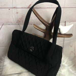 Vera Bradley Black Quilt Shoulder Bag